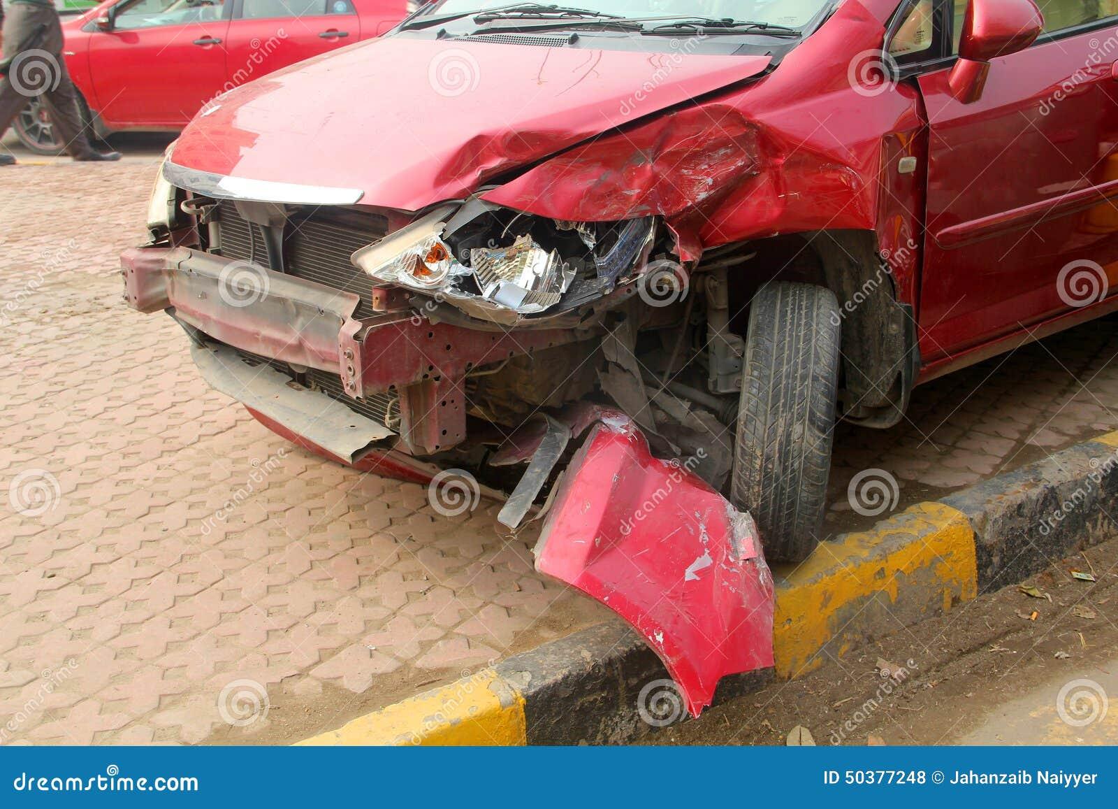 Car Crash Front Side stock photo. Image of damage, head - 50377248