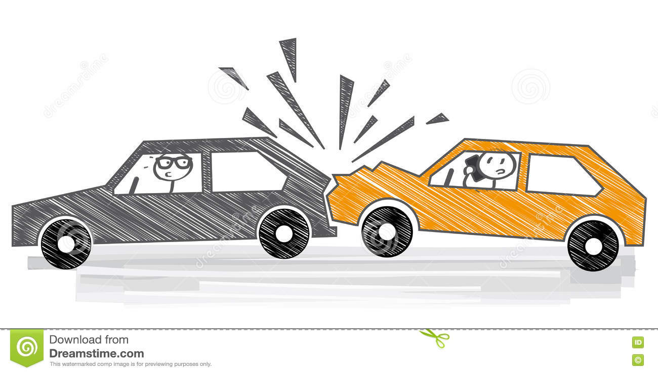 Car crash - illustration stock illustration. Illustration of danger ...