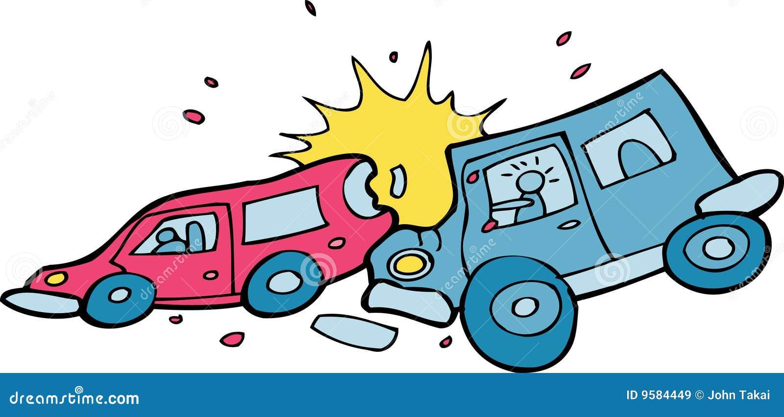 funny cartoon car crashes