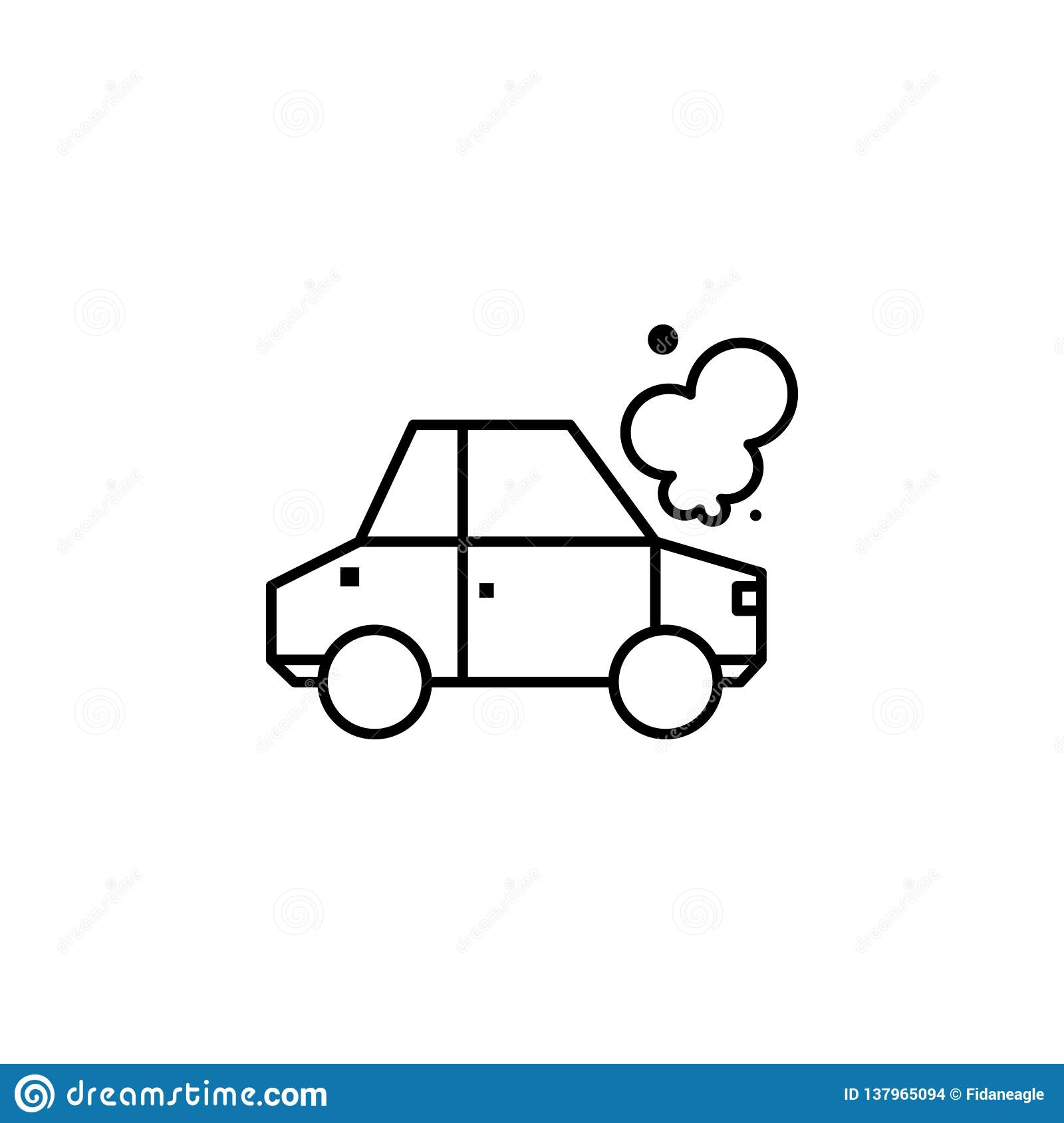 Car Crash Outline Icon Can Be Used For Web Logo Mobile App Ui