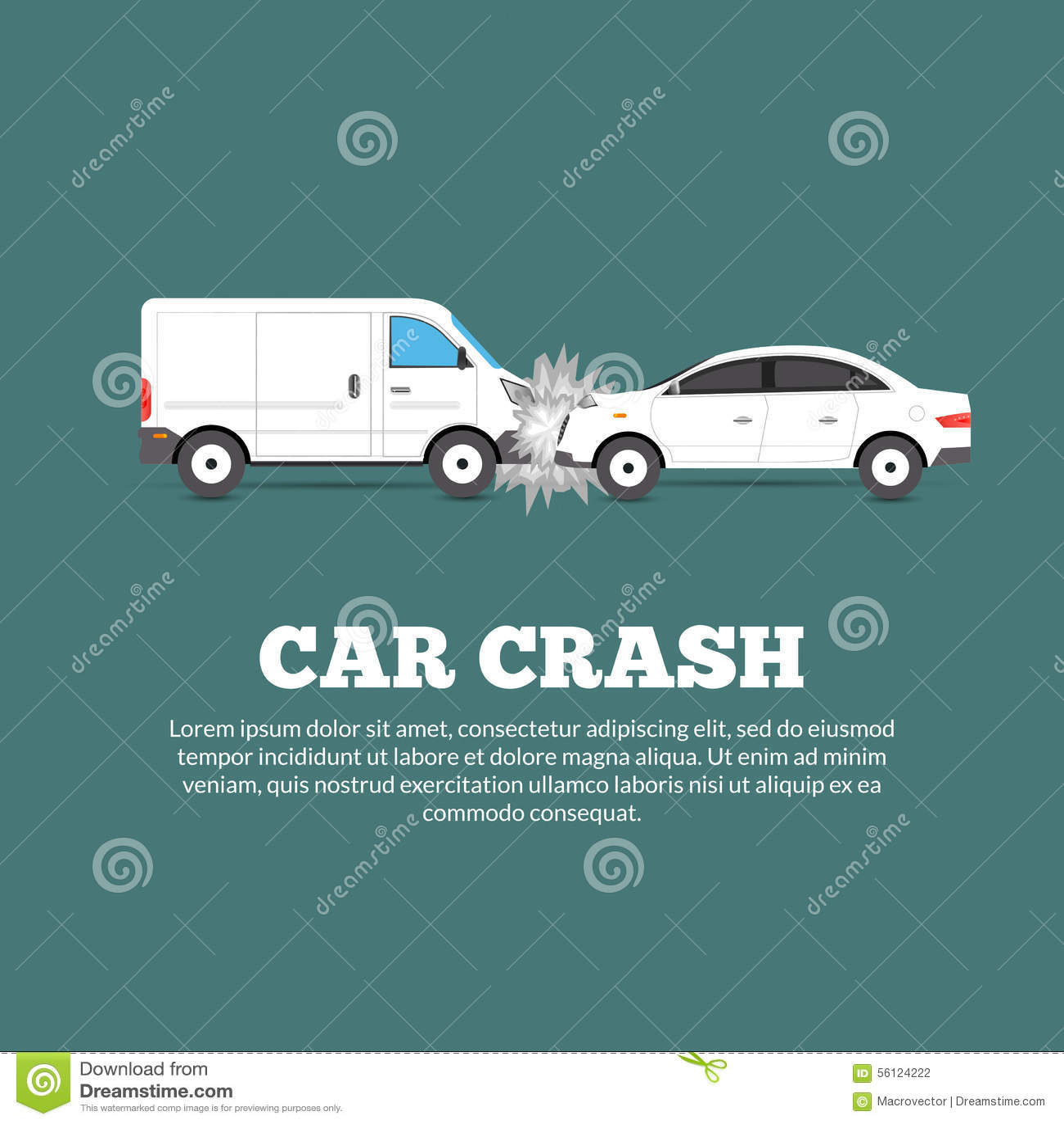 Home Design 3d Keeps Crashing: Car Crash Poster Stock Vector
