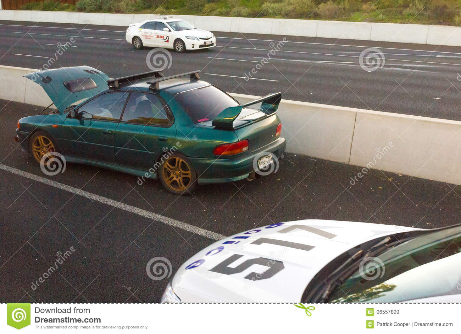 Car Crash On Southern Expressway, South Australia Editorial Stock