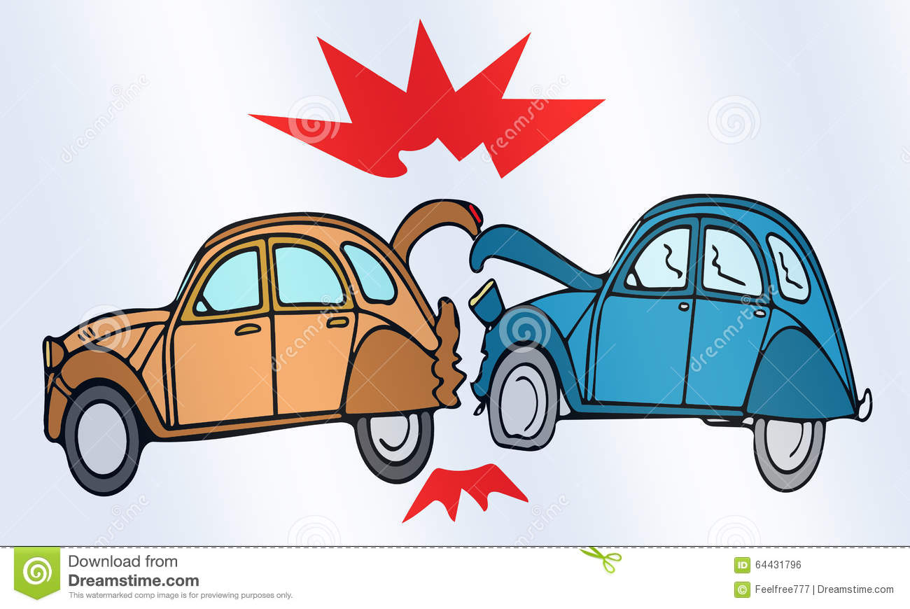 Car crash stock illustration. Illustration of problems - 64431796