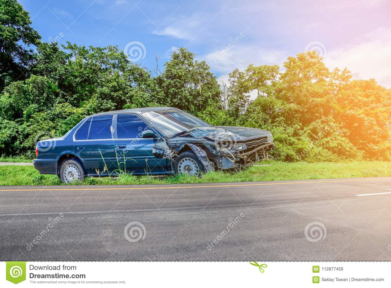 car accident and car crash on the road stock image image of