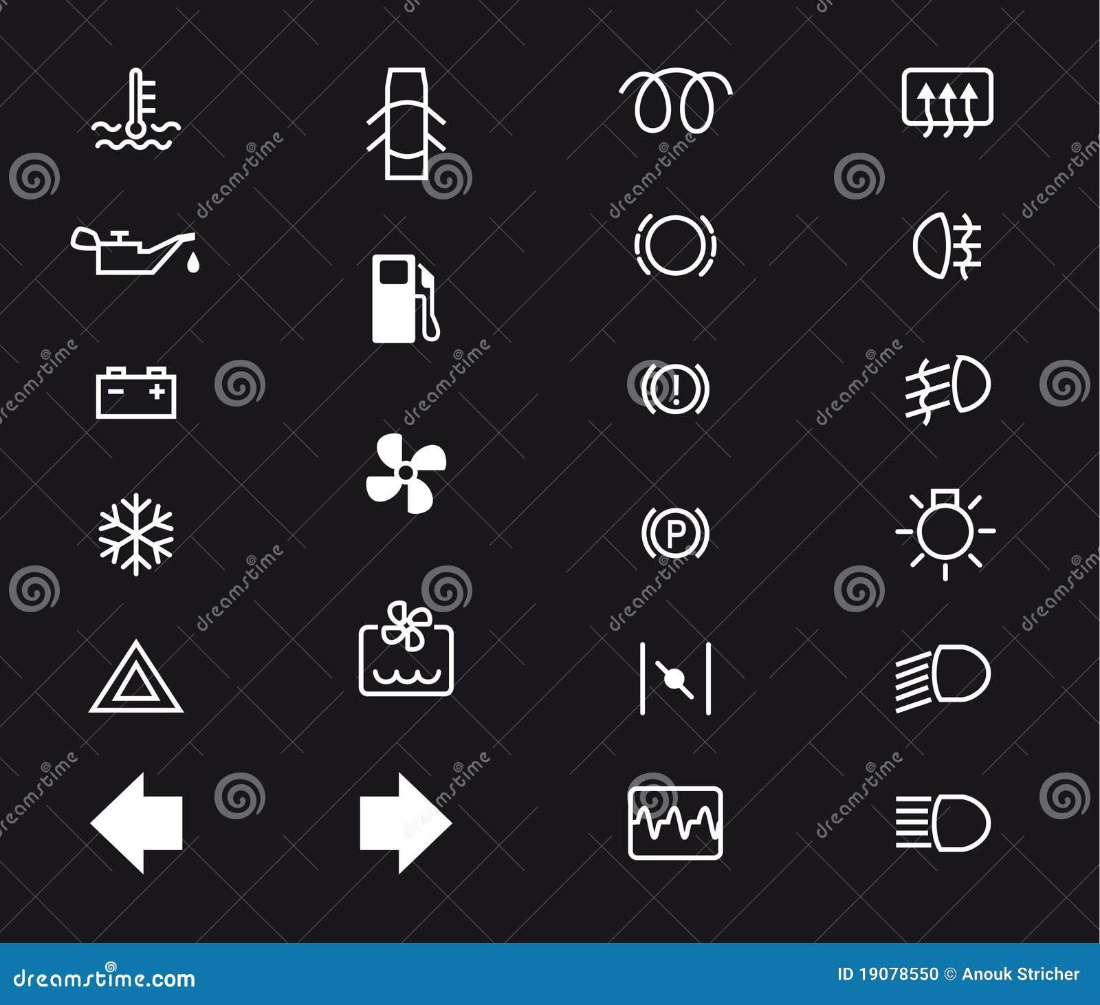 Car dashboard stock vector illustration of board temperature car dashboard biocorpaavc Images