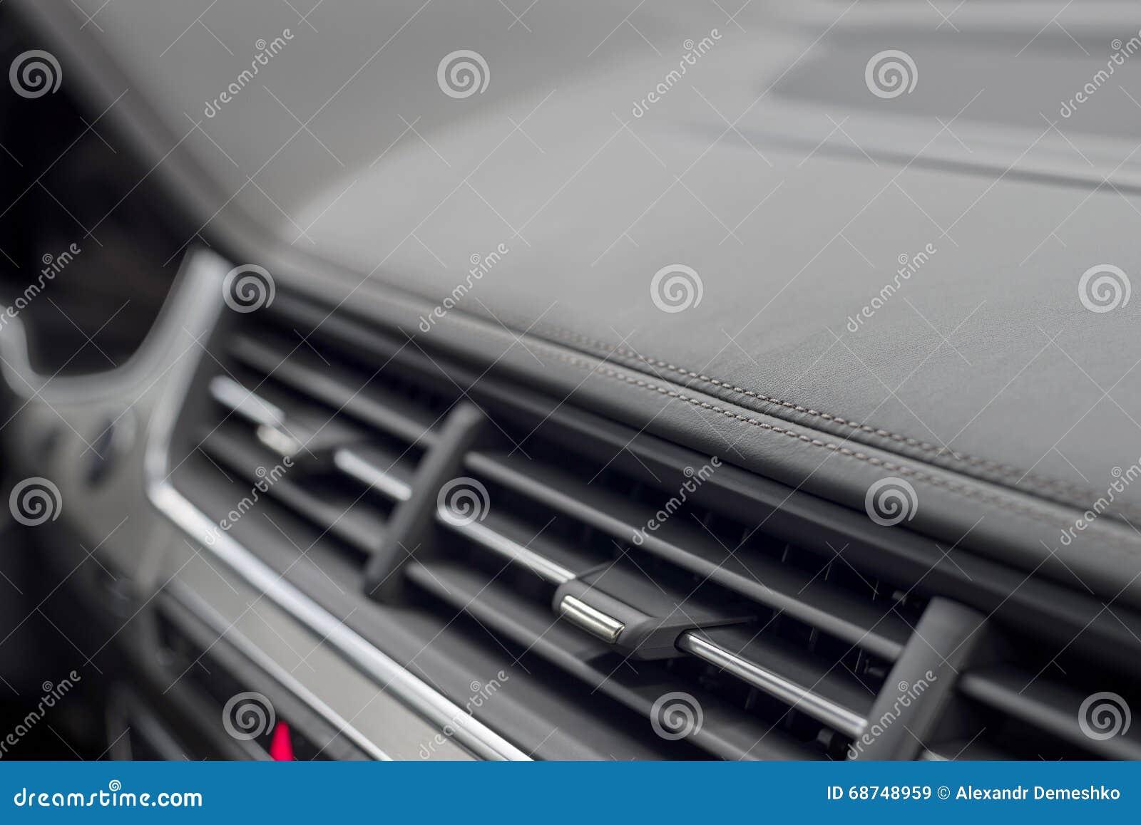 Car dashboard detail.
