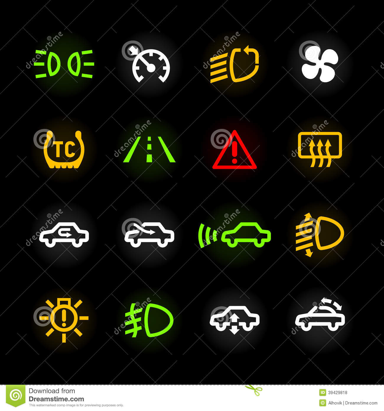 Royalty Free Stock Photos Car Dashboard Icons Set Image39429818 on car temperature switch