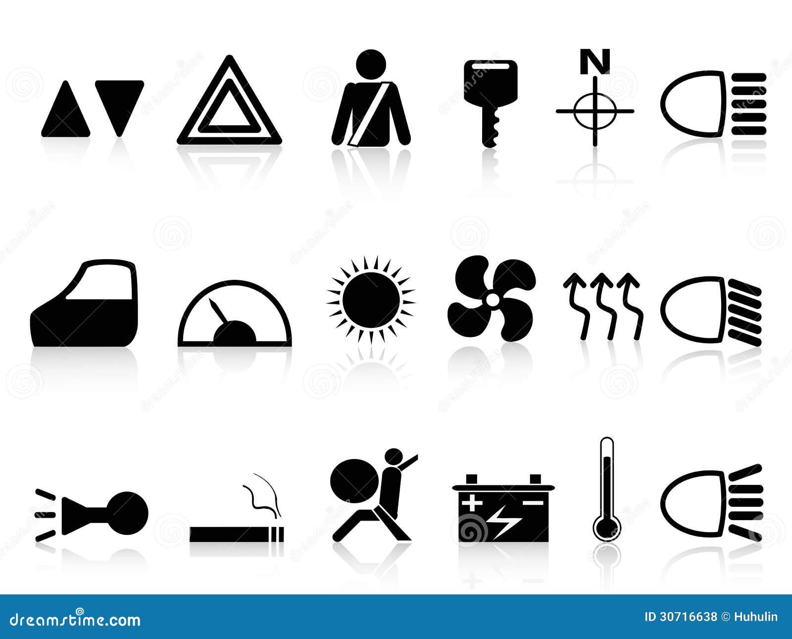 Car Dashboard Icons Stock Vector Illustration Of Internet - Car image sign of dashboardcar dashboard icons stock images royaltyfree imagesvectors