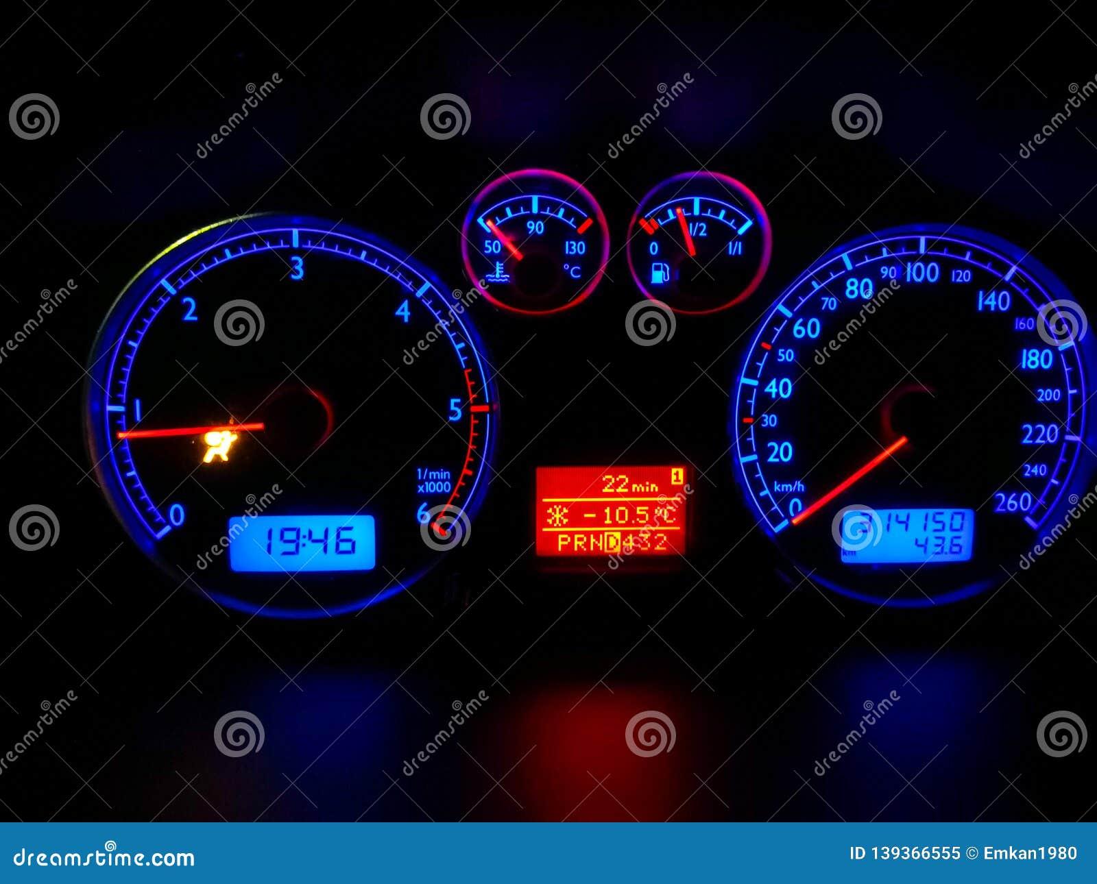 Car Dashboard Modern Automobile Control Panel Stock Image