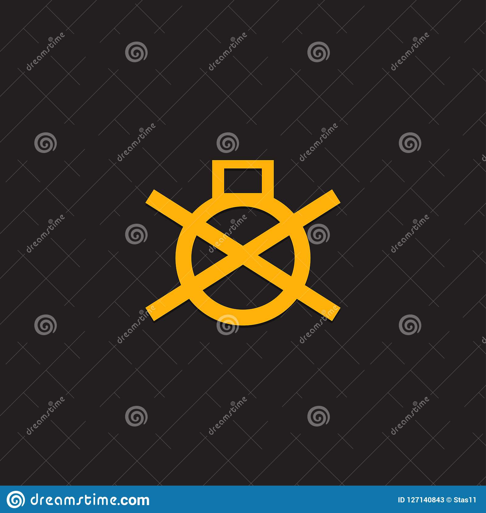 Car Dashboard Panel Icon On A Black Background Symbol Of A