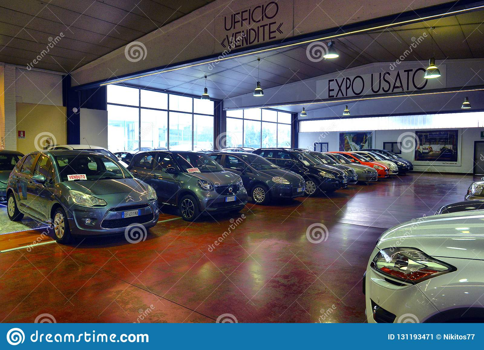 Used Cars Dealership >> Car Dealership For Used Cars And New Italian Cars Editorial