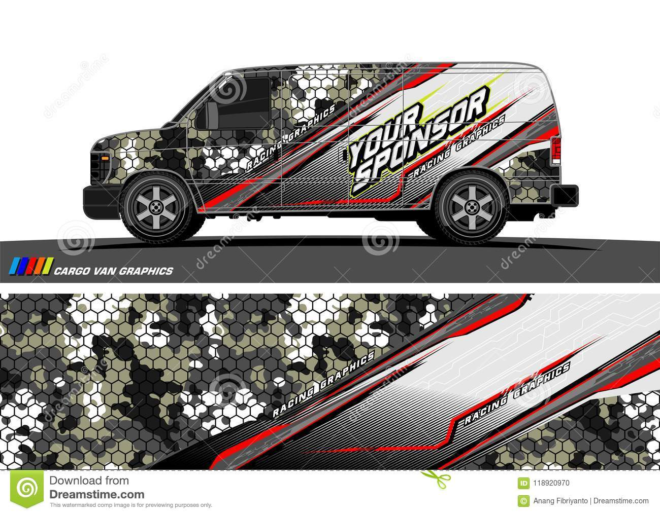 Car Decal Design Vector Abstract Background For Vehicle Vinyl Wrap