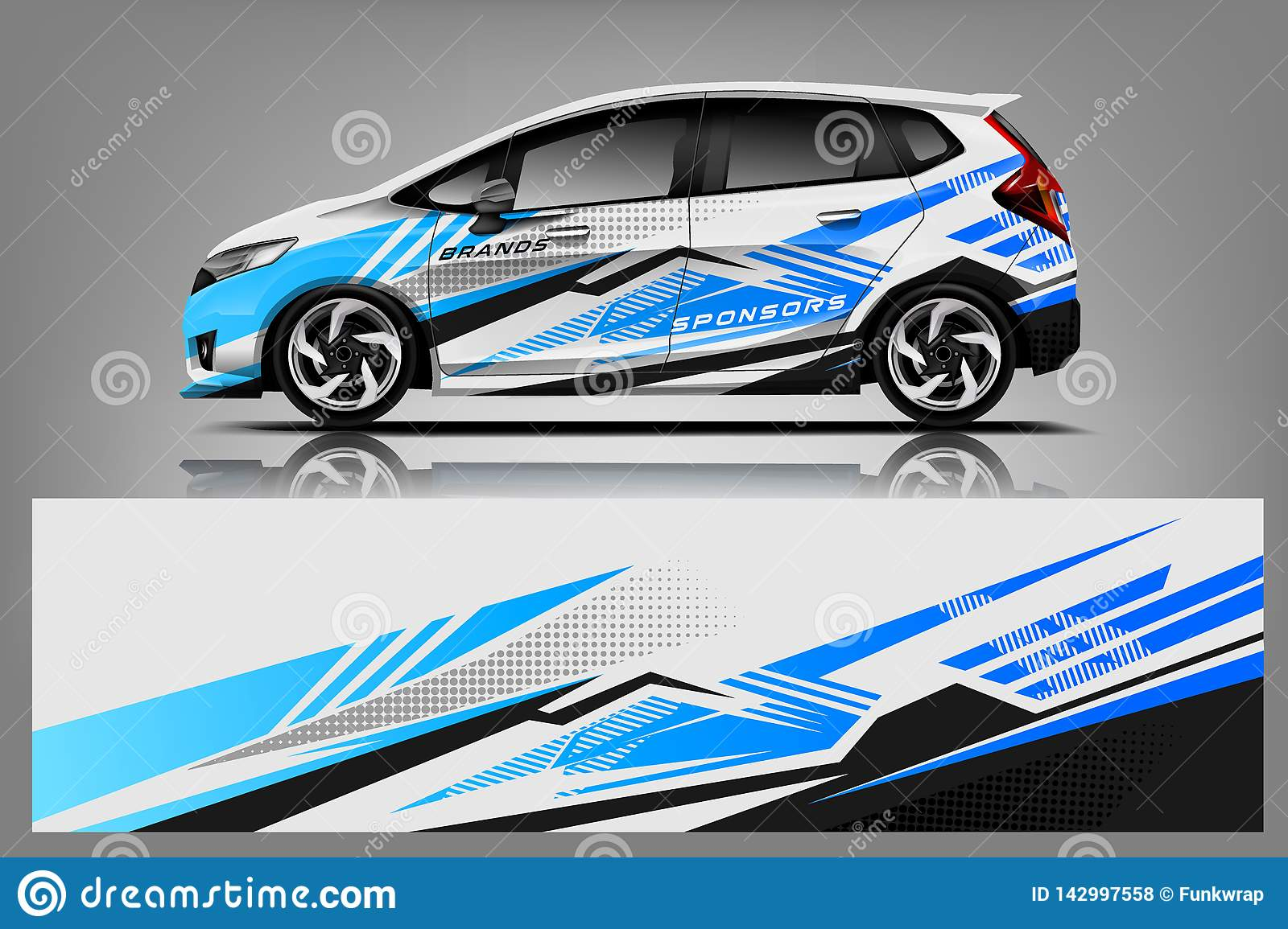 Car decal wrap design graphic abstract stripe racing background kit designs for vehicle race