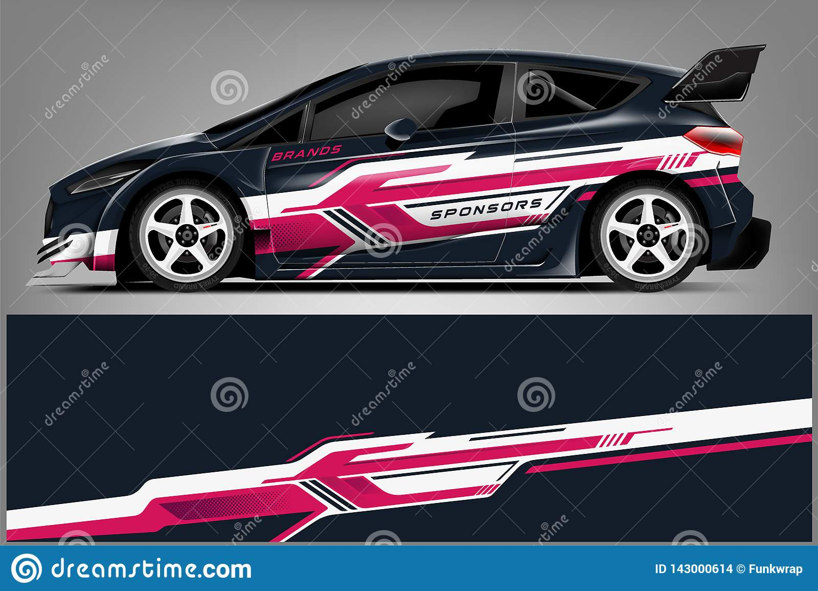 Car Decal Wrap Design Graphic Abstract Stripe Racing Background Kit Designs For Vehicle Race Car Rally Adventure And Li Stock Illustration Illustration Of Concept Rally 143000614