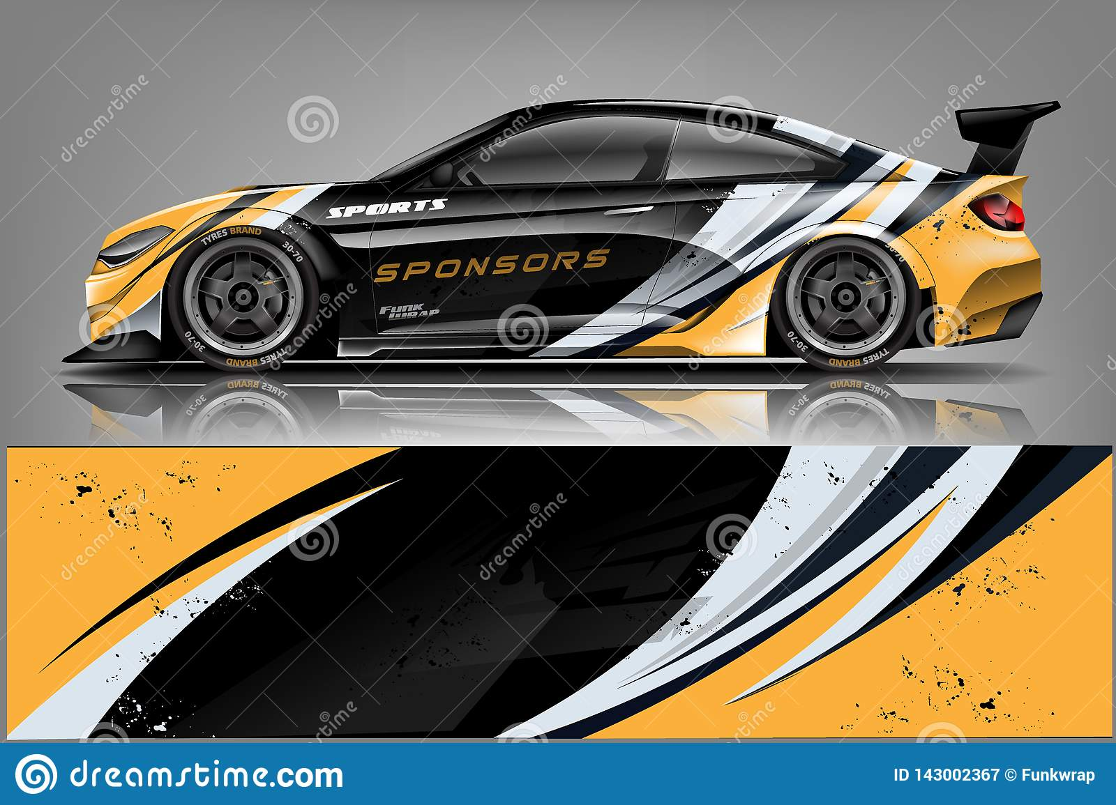 Car Decal Wrap Design   Graphic Abstract Stripe Racing