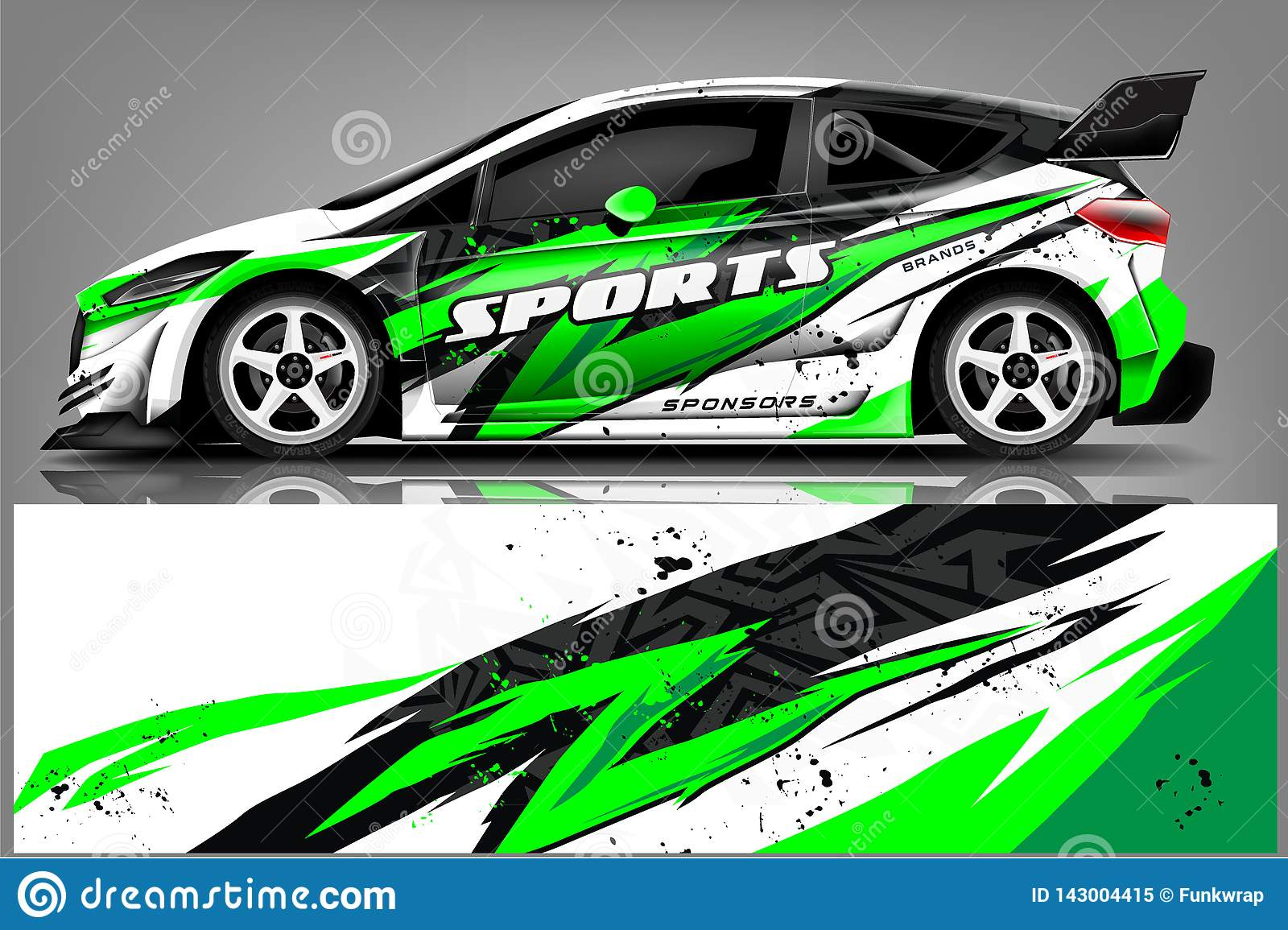 Car Decal Wrap Design Vector Graphic Abstract Stripe Racing Background Kit Designs For Vehicle Race Car Rally Adventure And Li Stock Illustration Illustration Of Mockup Decal 143004415