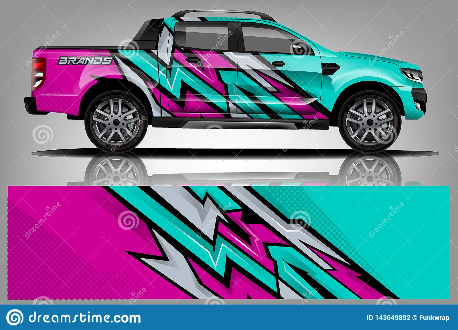 Car Decal Wrap Design Vector Graphic Abstract Stripe Racing Background Kit Designs For Vehicle Race Car Rally Adventure And Li Stock Vector Illustration Of Geometric Branding 143649892