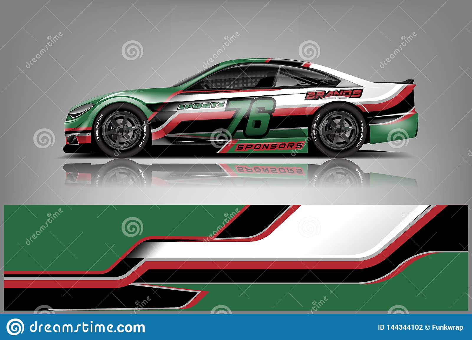 Car Decal Wrap Design Vector Graphic Abstract Stripe Racing Background Kit Designs For Vehicle Race Car Rally Adventure And Li Stock Vector Illustration Of Designs Modern 144344102