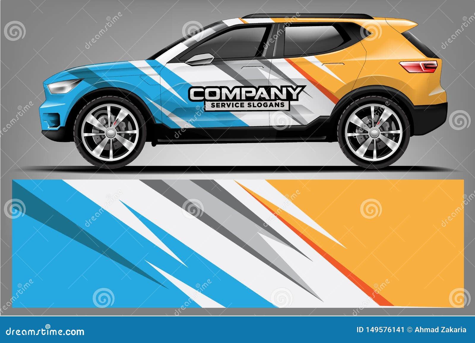 Car decal wrap design. vector design. - Vector