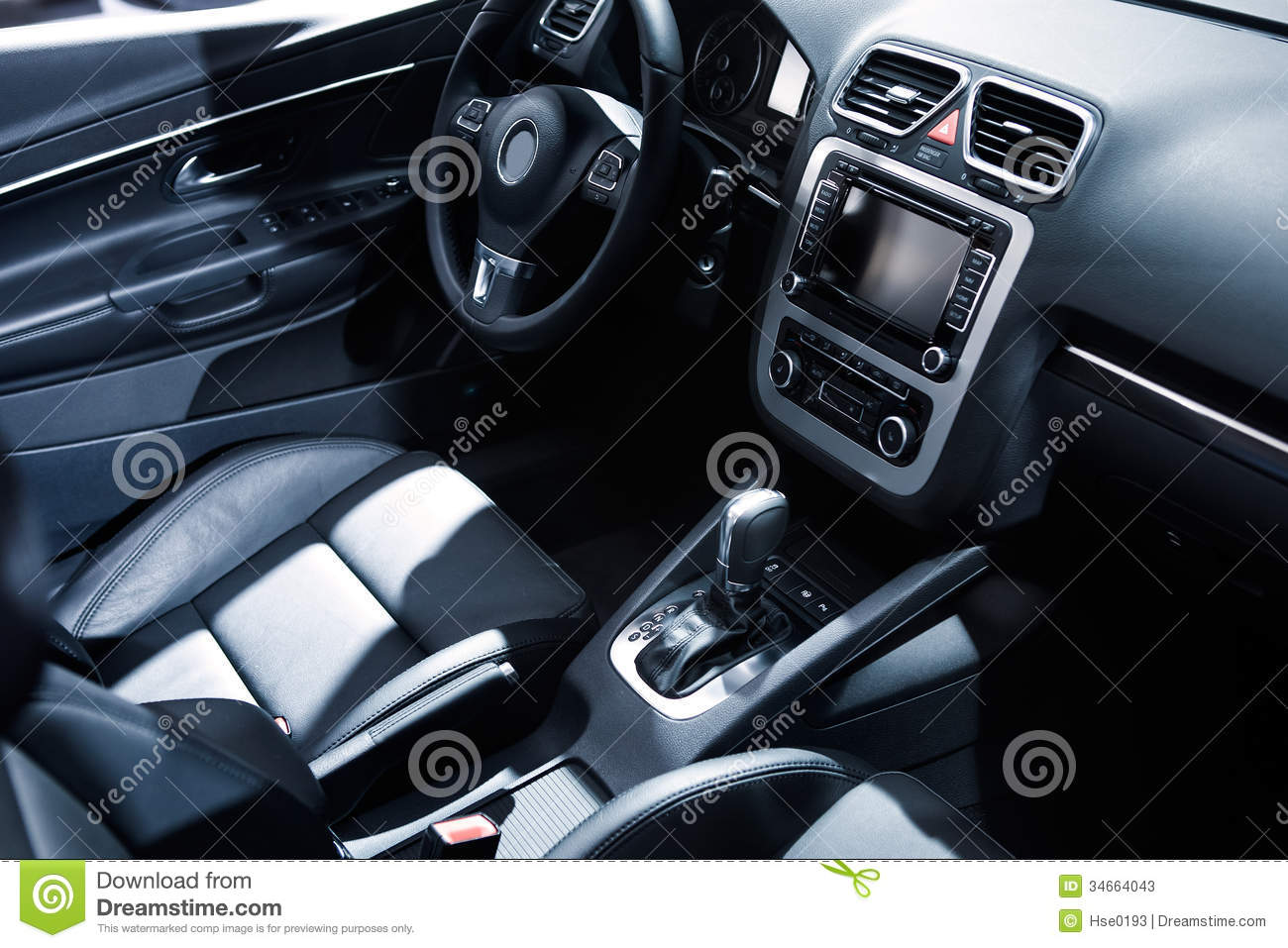 car design leather seat and control panel stock photos image 34664043. Black Bedroom Furniture Sets. Home Design Ideas