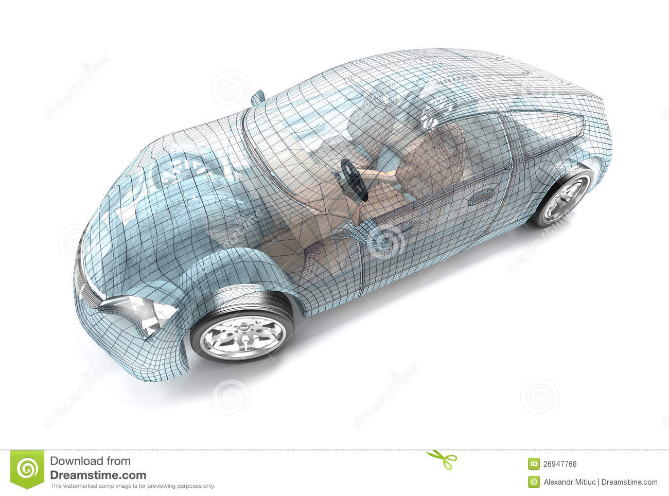 Car design, wire model