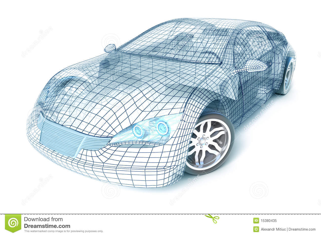 Car Design, Wire Model. My Own Design. Royalty Free Stock Photo ...