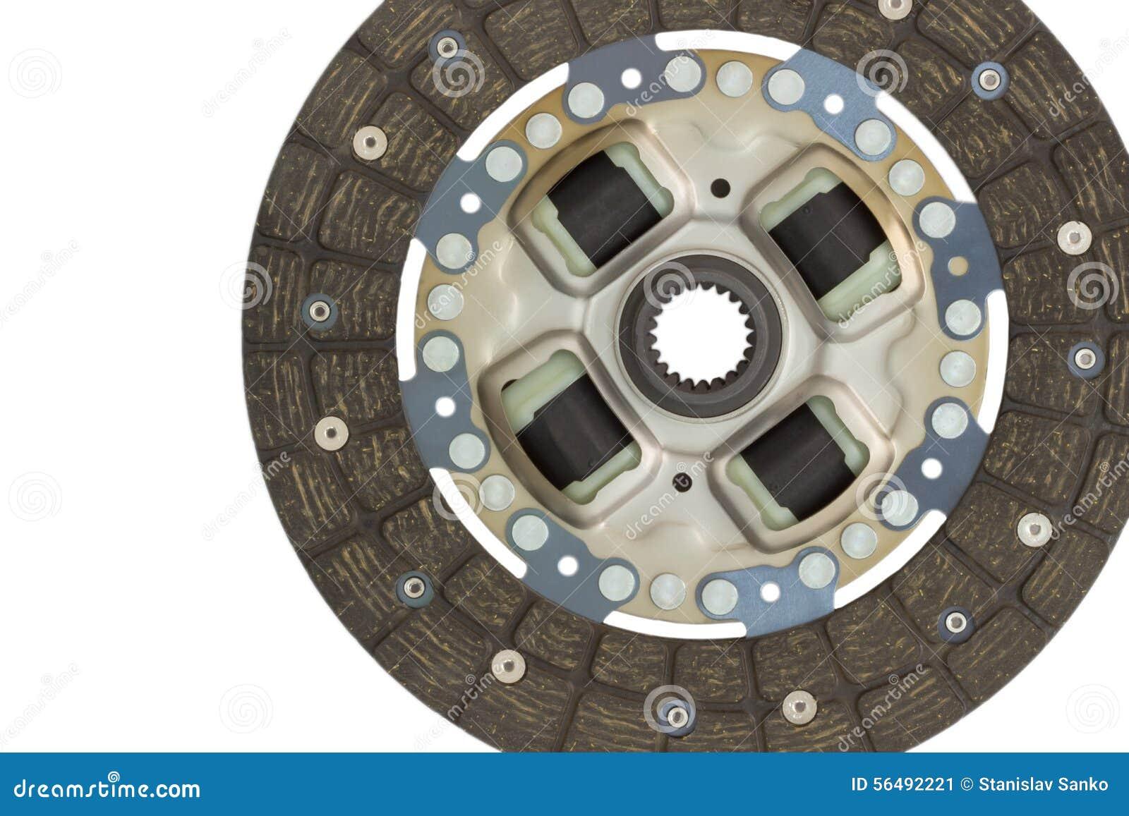 Car disc clutch on a white