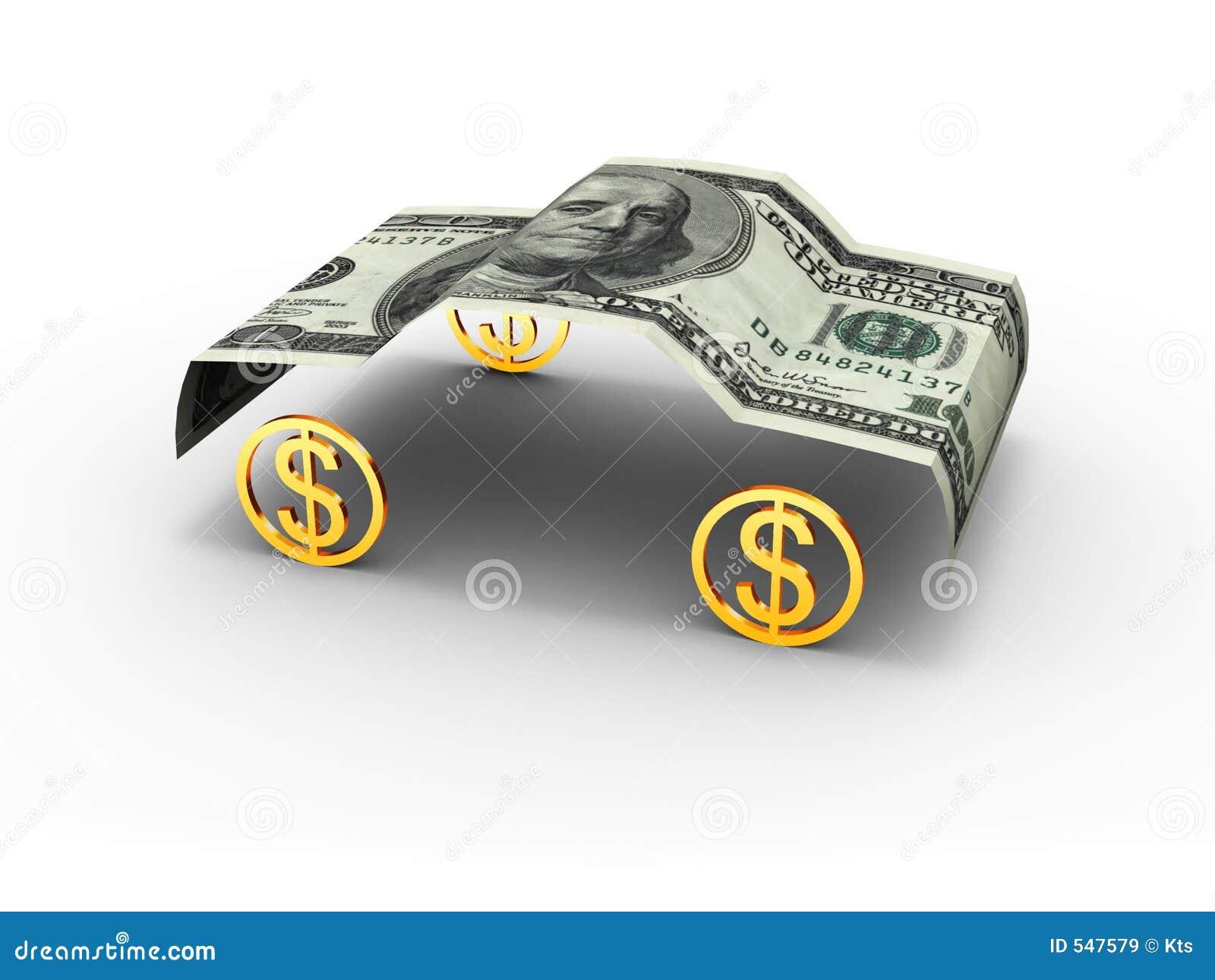 car dollar stock illustration image of rich automobile 547579. Black Bedroom Furniture Sets. Home Design Ideas