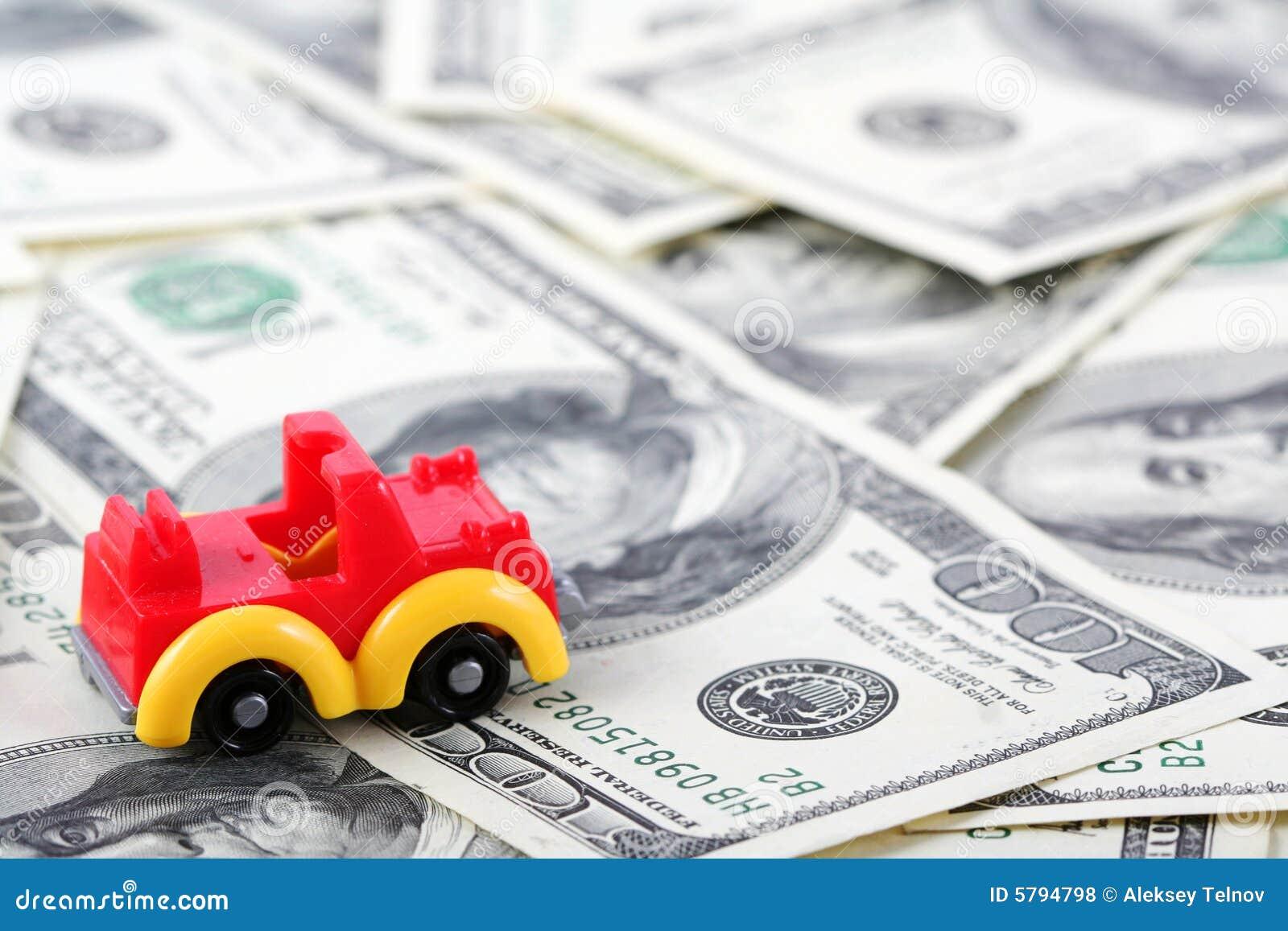car on dollars royalty free stock photos image 5794798. Black Bedroom Furniture Sets. Home Design Ideas