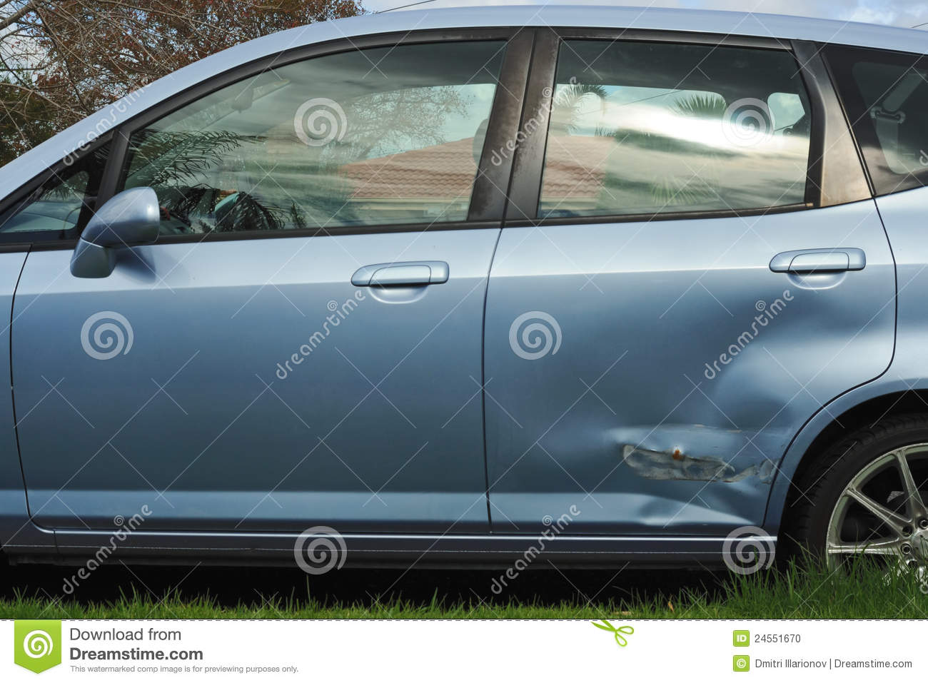 Car door damage stock photo image of claim light body for Door motor for cars