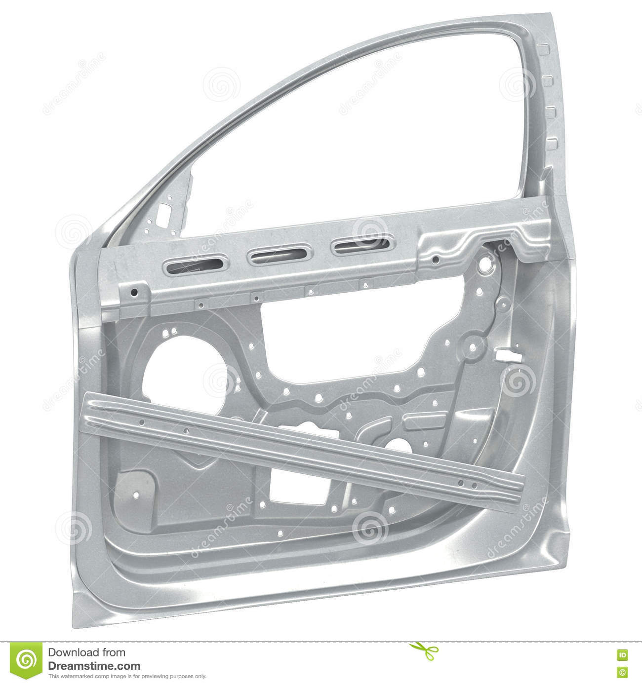 Car Door Frame On White. 3D Illustration Stock Illustration ...