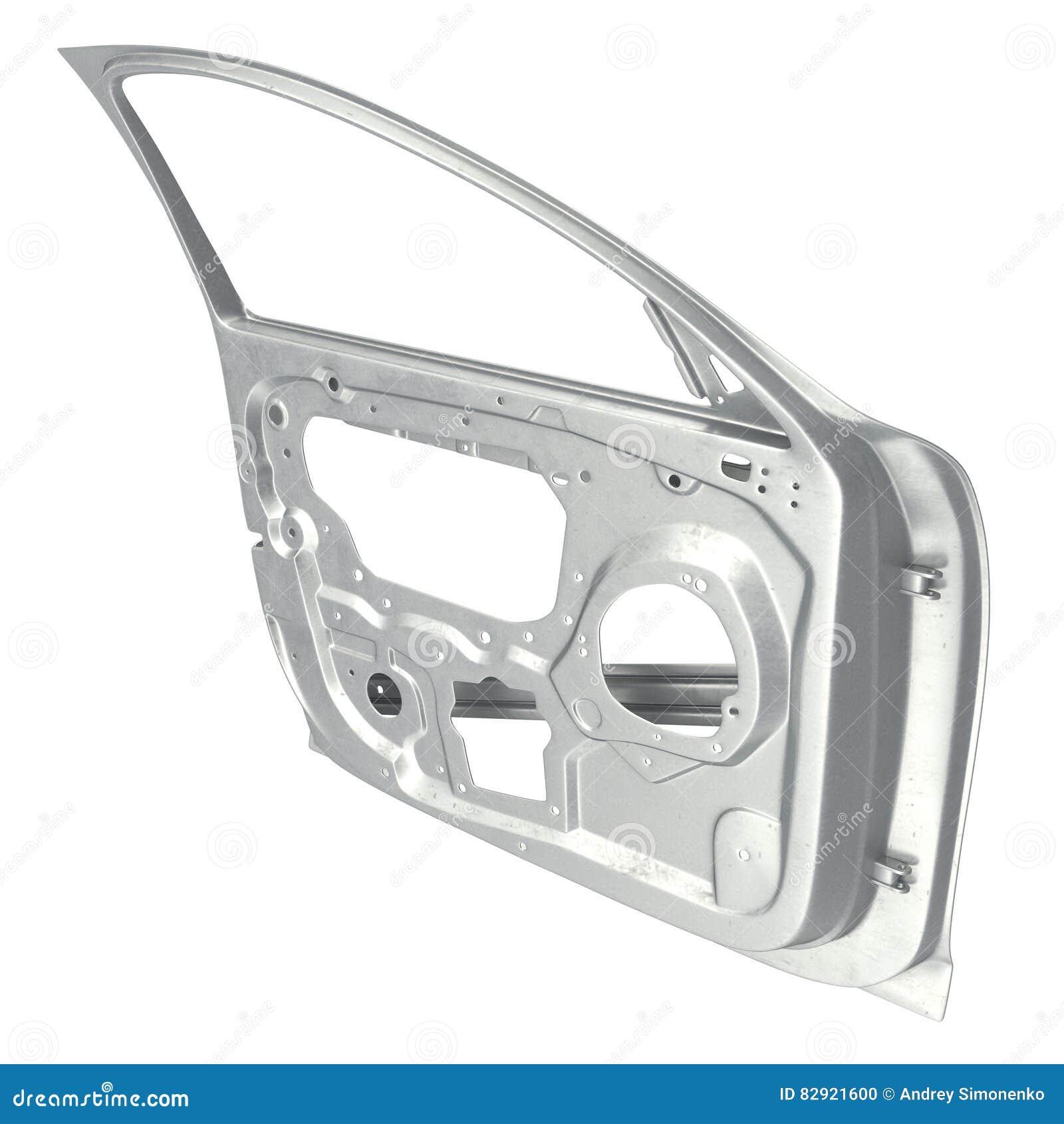 Car Door Frame On White. 3D Illustration Stock Illustration ...