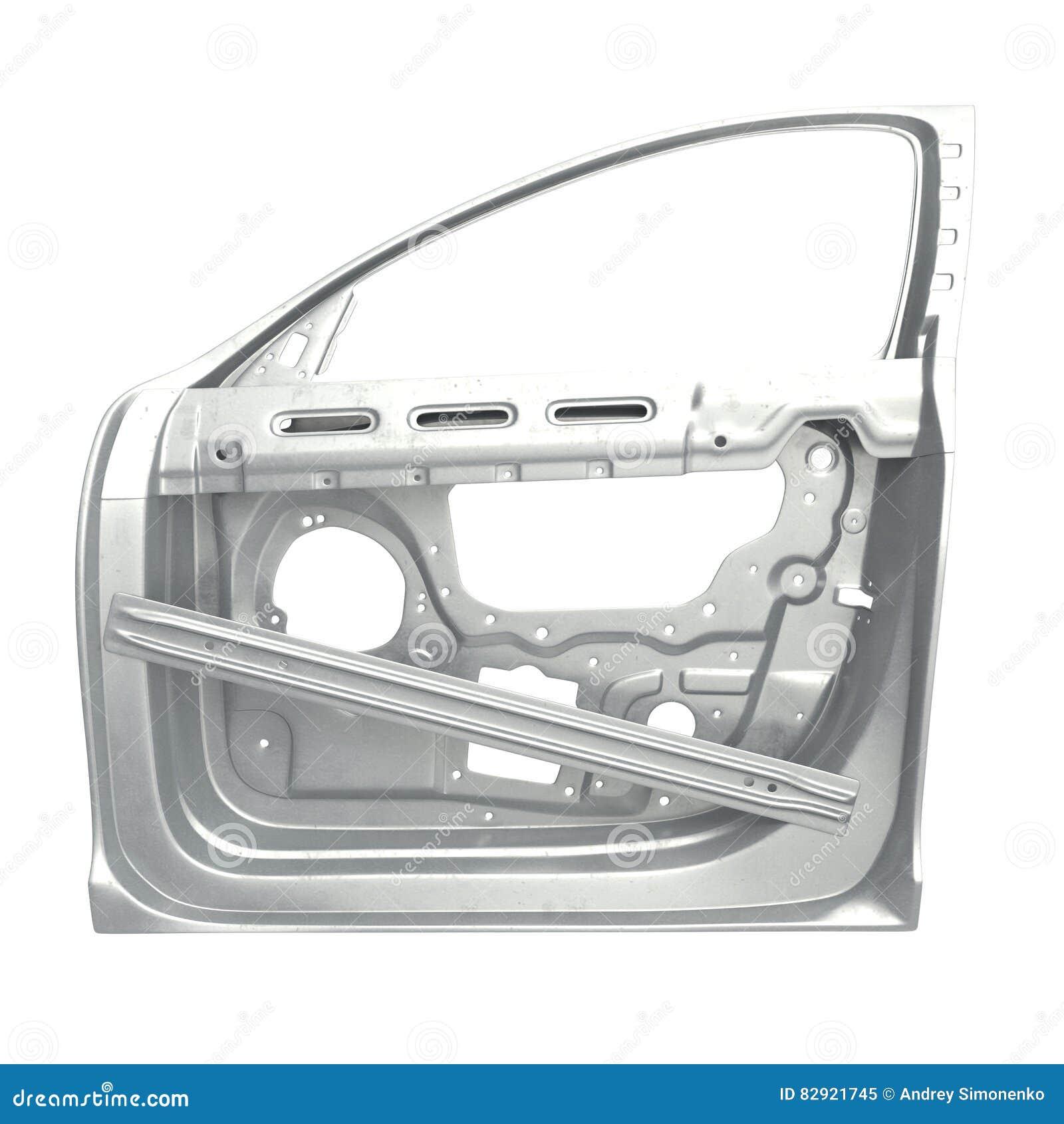 Car Door Frame On White 3d Illustration Stock Illustration Image 82921745