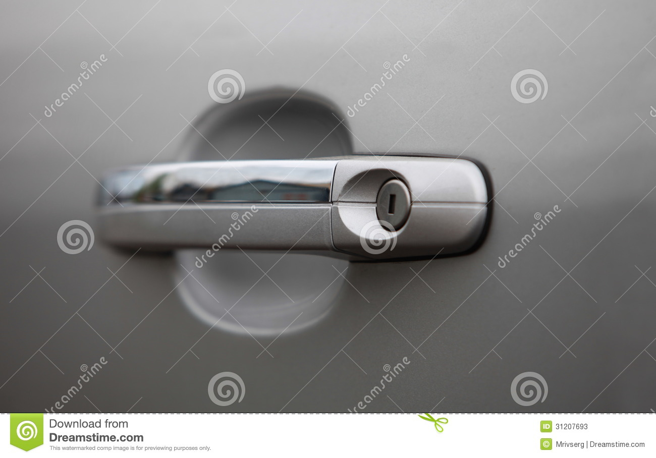 car door handle stock photos image 31207693. Black Bedroom Furniture Sets. Home Design Ideas