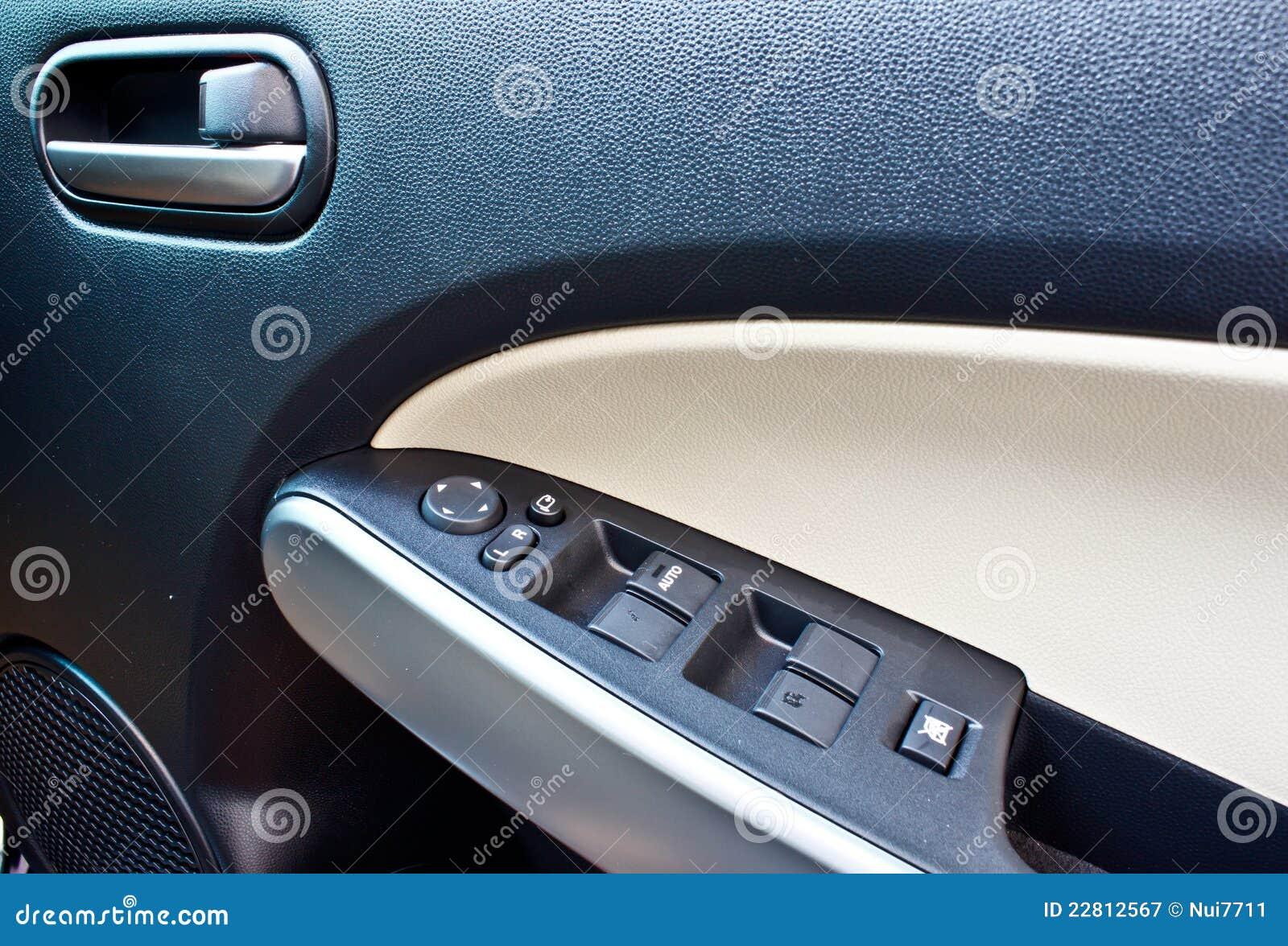 car interior black door panel nobody and close up stock photo 73899240. Black Bedroom Furniture Sets. Home Design Ideas