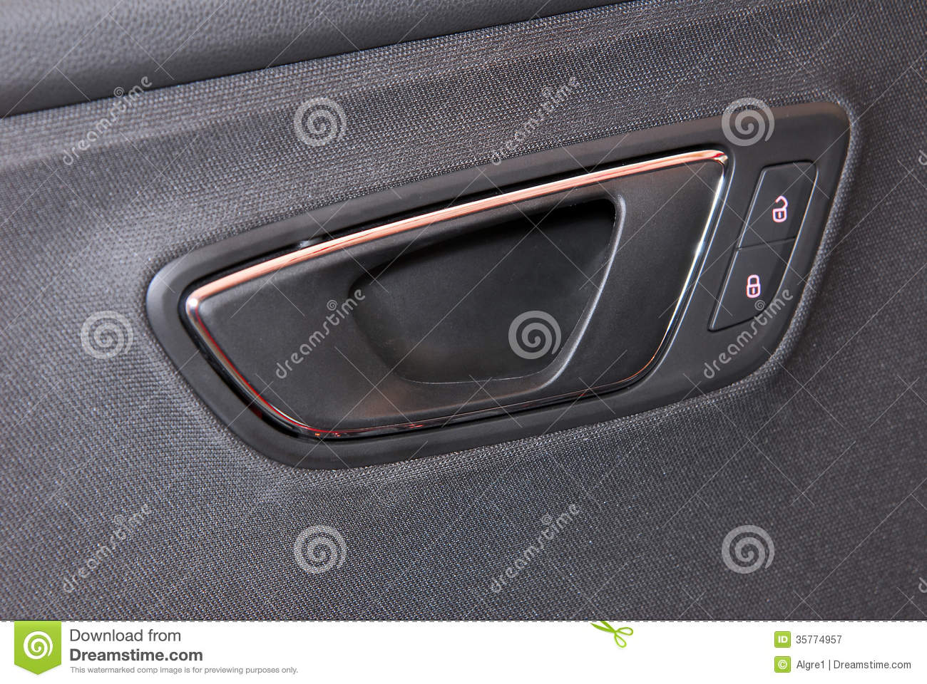 Car Door Handles And Electric Detail Royalty Free Stock