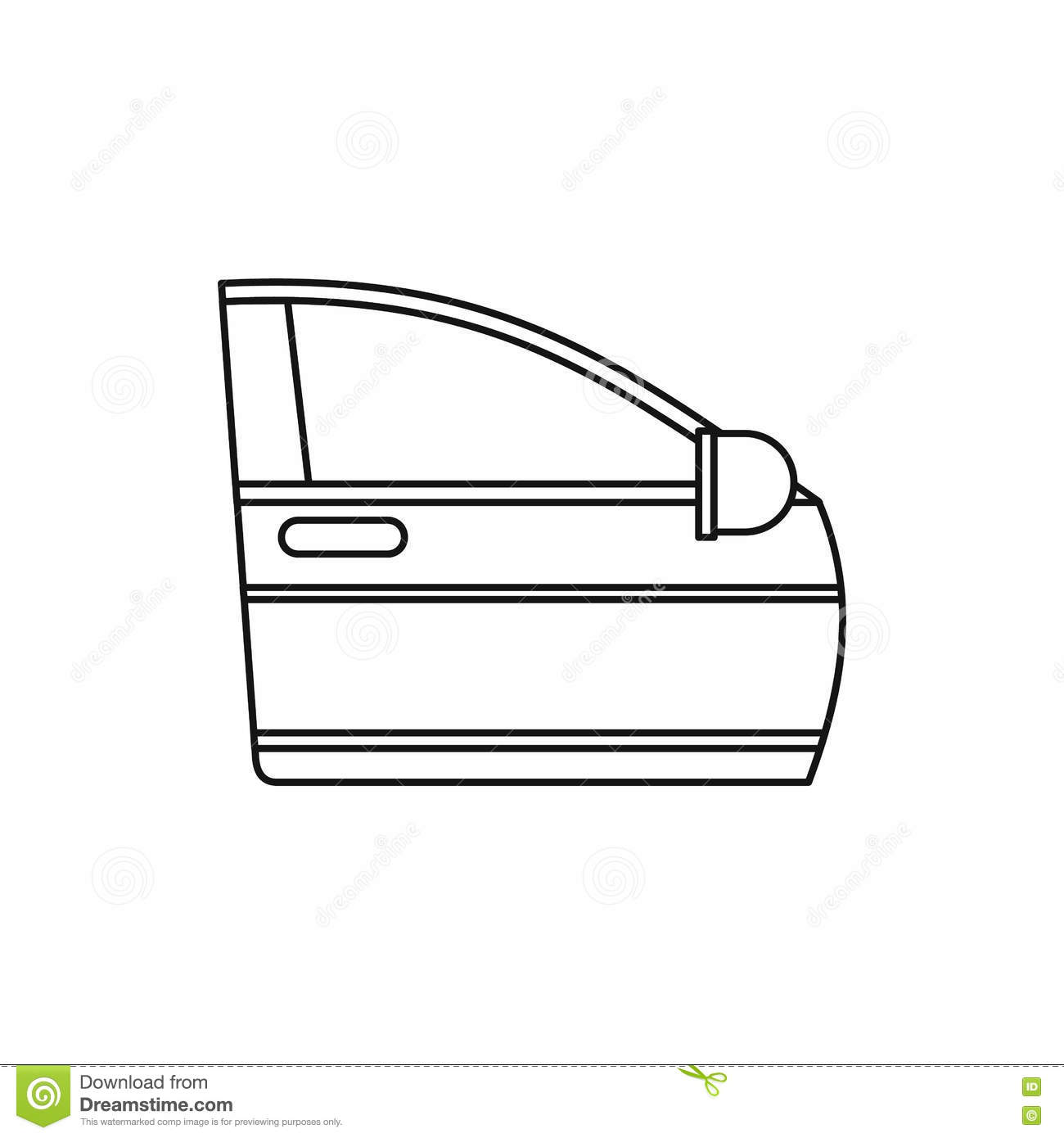Line Drawing Door : Car door icon outline style stock vector illustration