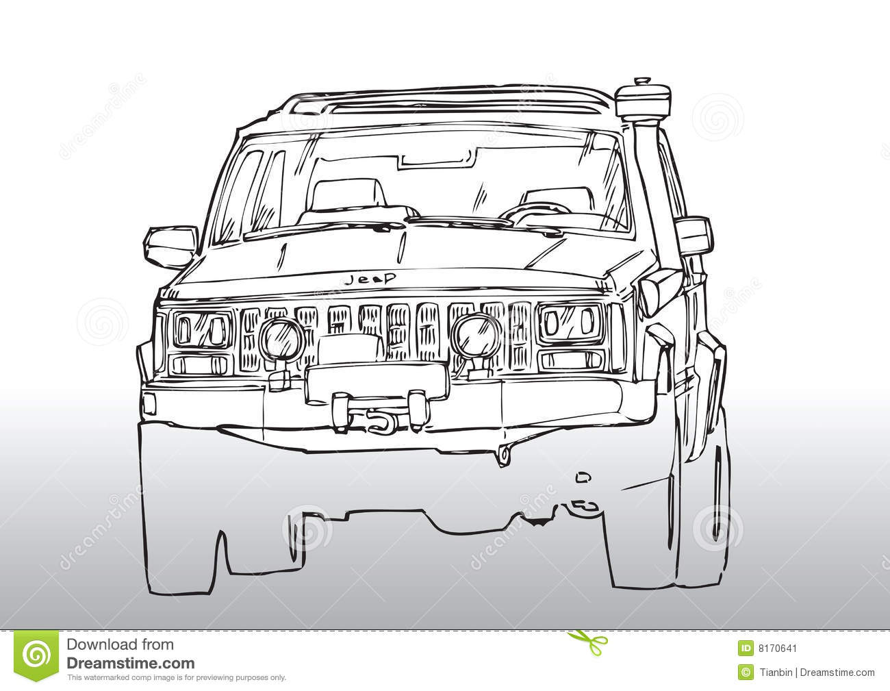 Car Drawing Truck Stock Vector Illustration Of Modifieds 8170641