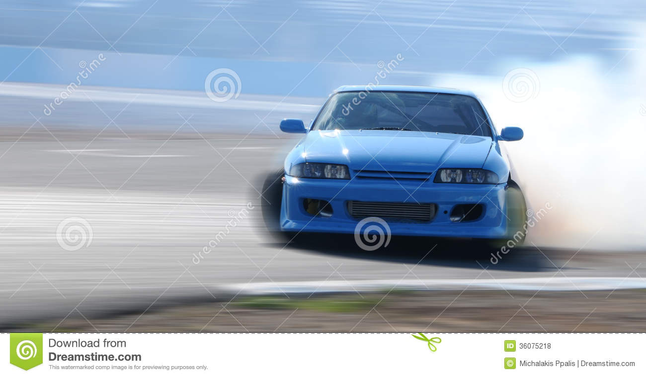 Car Drifting On A Race Track Stock Photo Image Of Wheels Concept 36075218