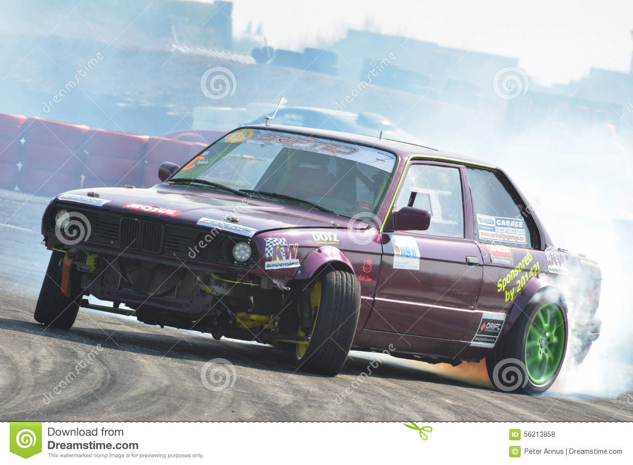 Car Drifting On A Race Track Editorial Stock Photo Image Of Sport