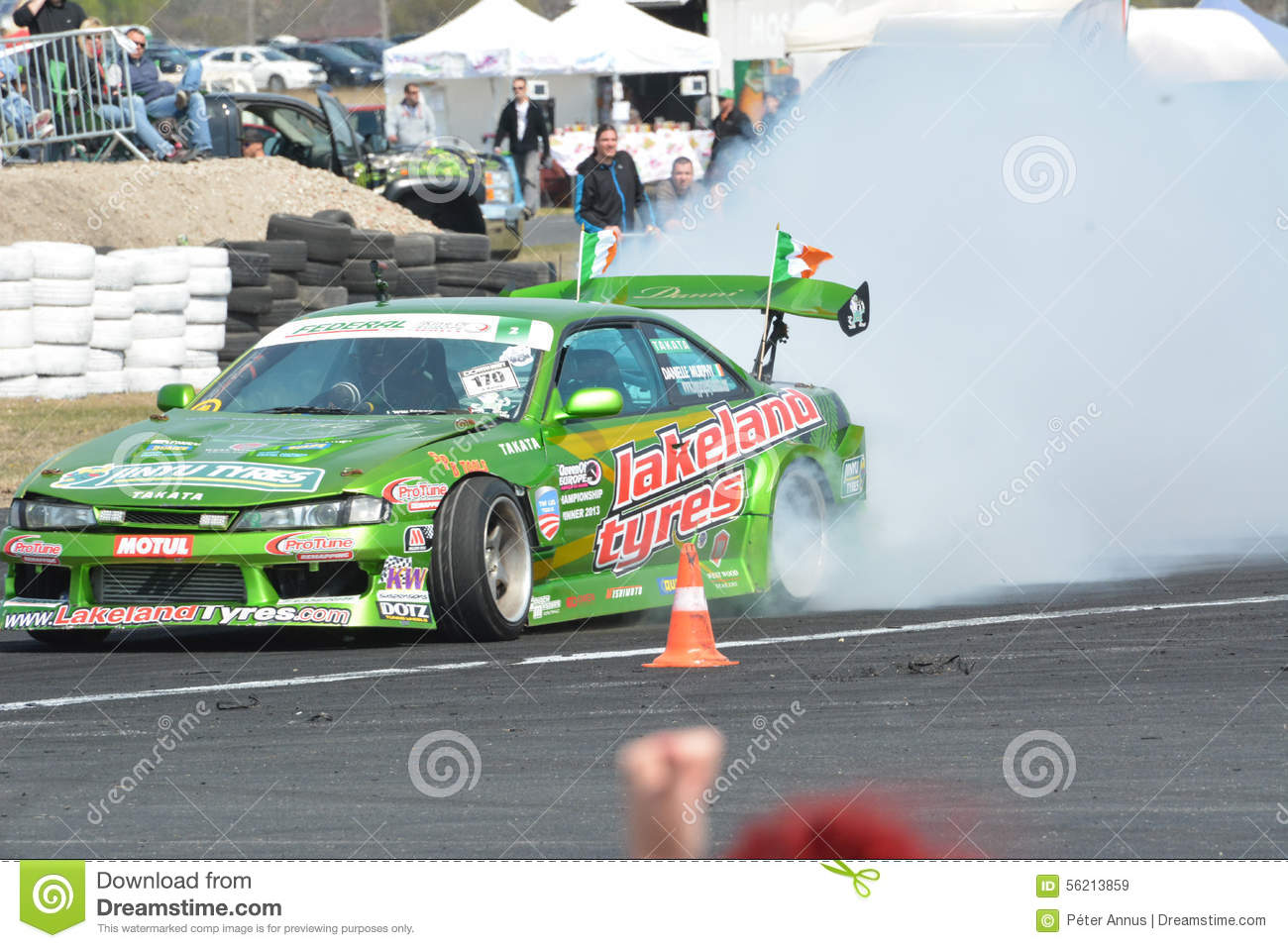 Car Drifting On A Race Track Editorial Stock Image Image Of Race