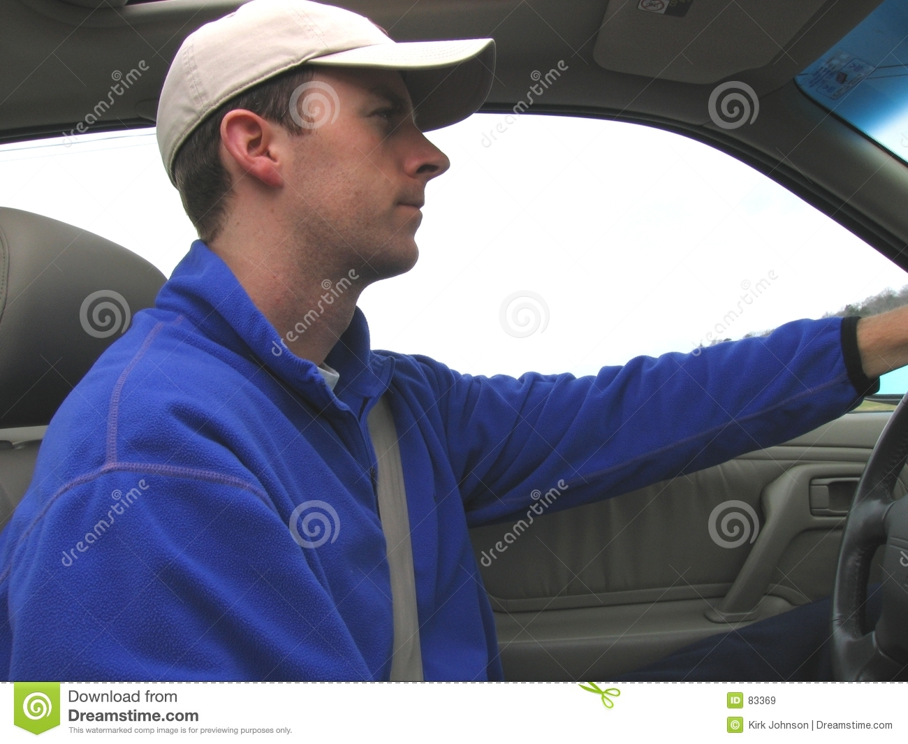 Car driving man