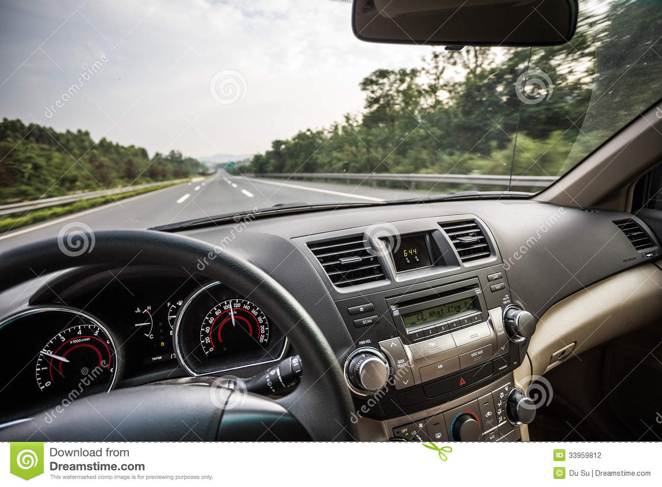Car Driving On Road Stock Photo Image Of Distance Controls 33959812