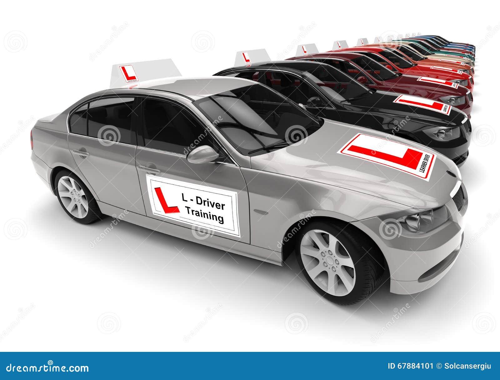 Car Driving School fleet concept