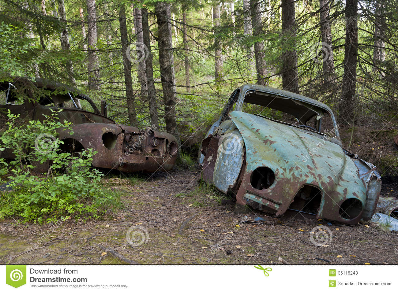 Car Dump In Kirkoe Mosse Stock Photo Image Of Mortuary