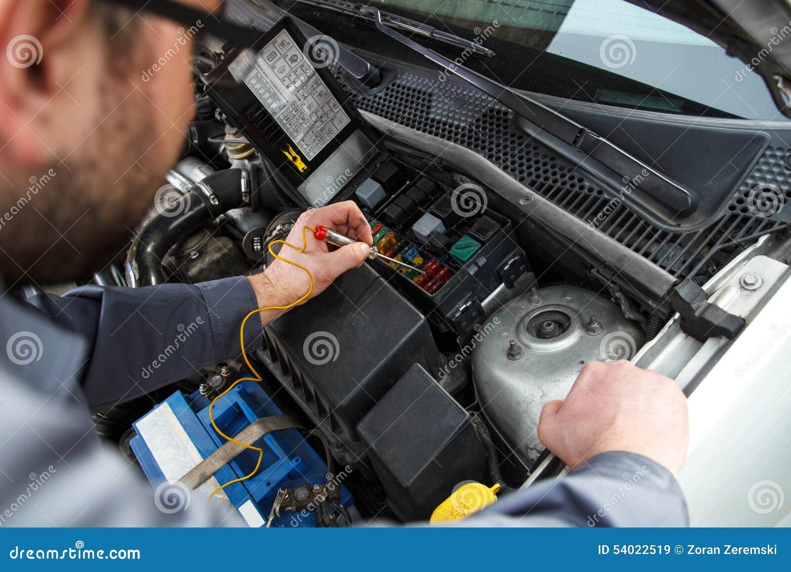 Car Electric Repair Stock Image  Image Of Lighting