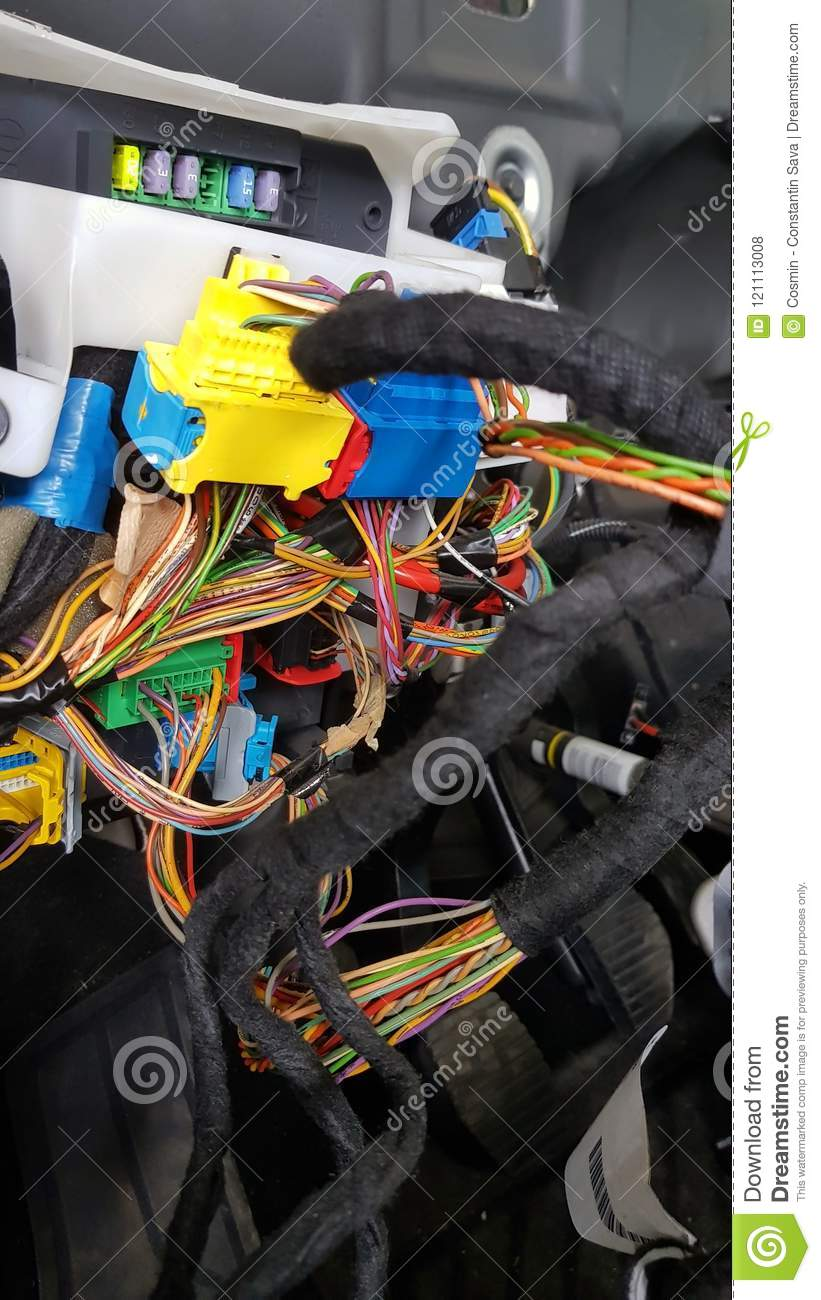 Car Electrical System Electric Computer Unit Stock Photo Image Of Wiring Circuit Supplied With The Control