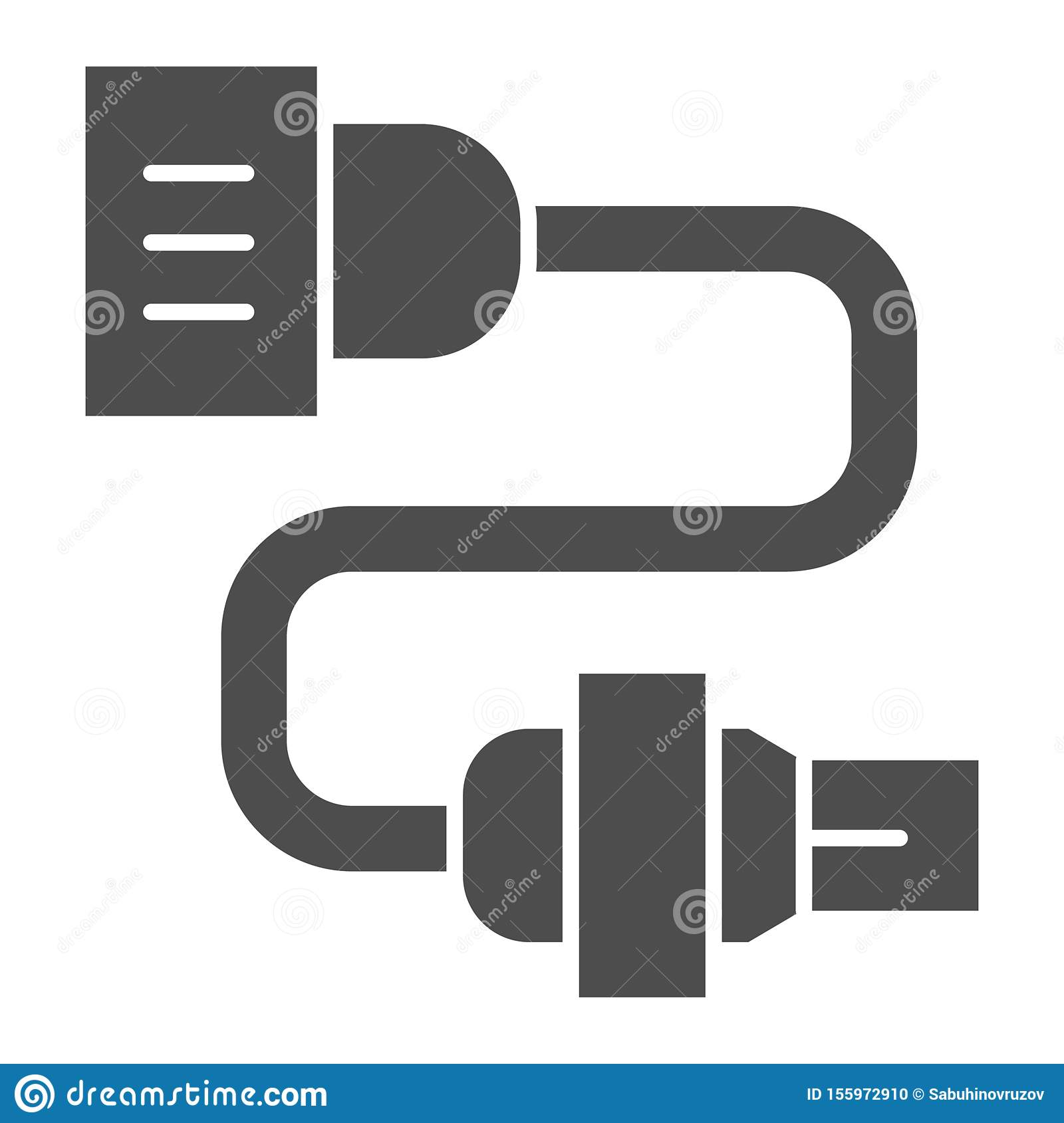 Car Electrical Wiring Solid Icon Automobile Plug Vector Illustration Isolated On White Car Electric Part Glyph Style Stock Vector Illustration Of Socket Sign 155972910