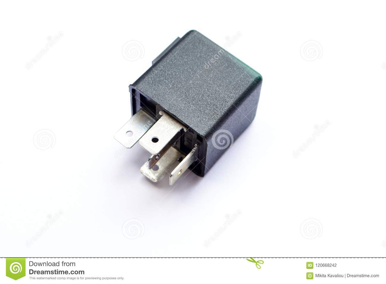 Car Electromagnetic Relay Switch Isolated Stock Photo