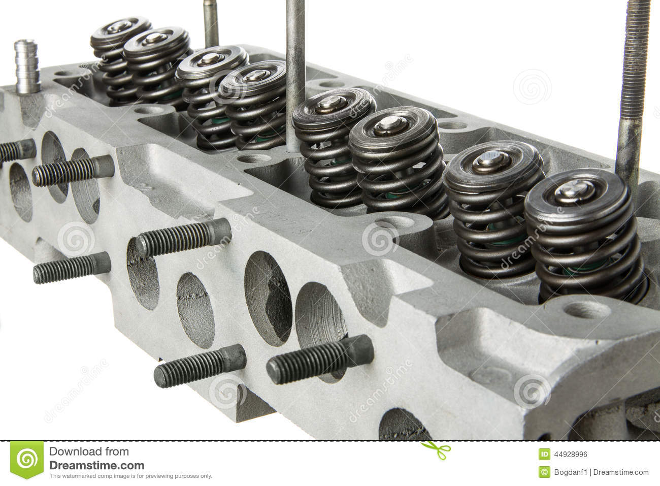 Car Engine Cylinder Head Diagonal View Stock Photo Image Of V6 Diagram